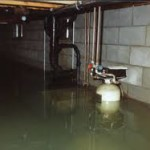 water and sewer back up in basement